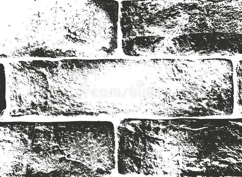 Texturen van de nood de oude bakstenen muur EPS8 vector royalty-vrije illustratie