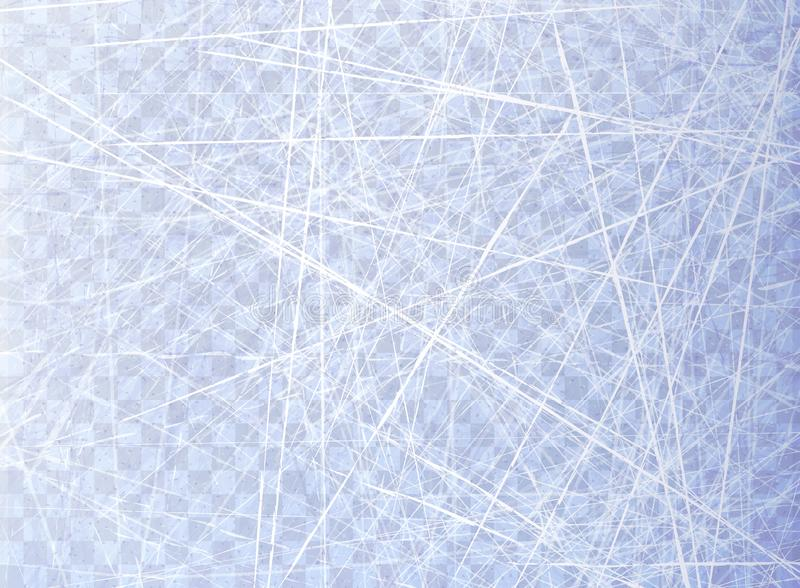Texturer slösar is Isisbana Över huvudet sikt Naturyttersida Isolerat på genomskinlig bakgrund vinter för blåa snowflakes för bak vektor illustrationer