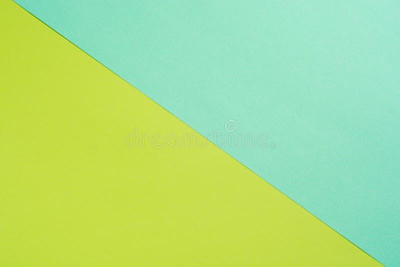 Texturera bakgrund av trendig färg med den bästa sikten, minsta begrepp, lägga framlänges: blått, apelsin, grönt och rosa royaltyfri fotografi