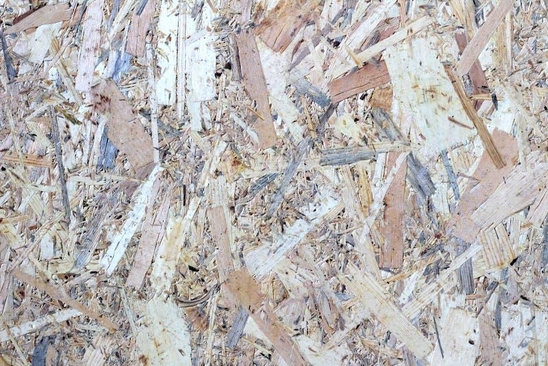 Texturera bilden av osbbrädet Härlig härlig modell på orienterat trådbräde arkivbilder