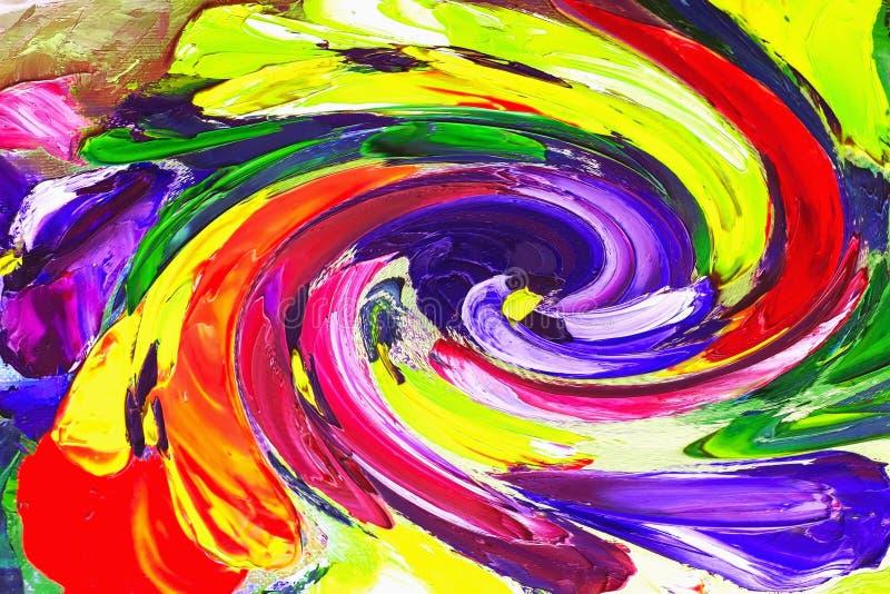 Texturera olje- målning, blommor, konst, den målade färgbilden, målarfärg arkivbild