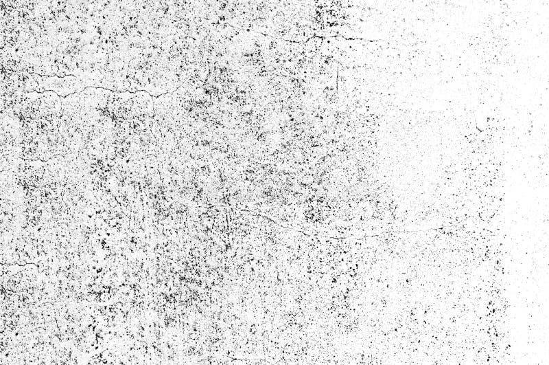 Texturera svartvit abstrakt grungestil Abstrakt textur för tappning av gammal yttersida Modell och textur av sprickor, skrapor, royaltyfri illustrationer
