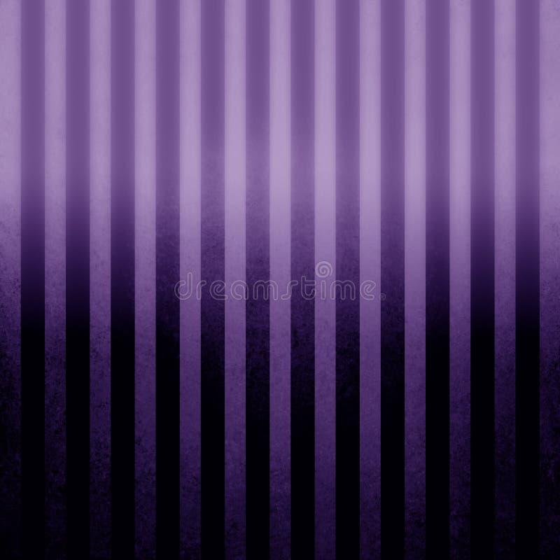 Texturerad bakgrund för stift randig purpurfärgad tappning med svart och purpurfärgad lutningfärg och sken royaltyfri illustrationer