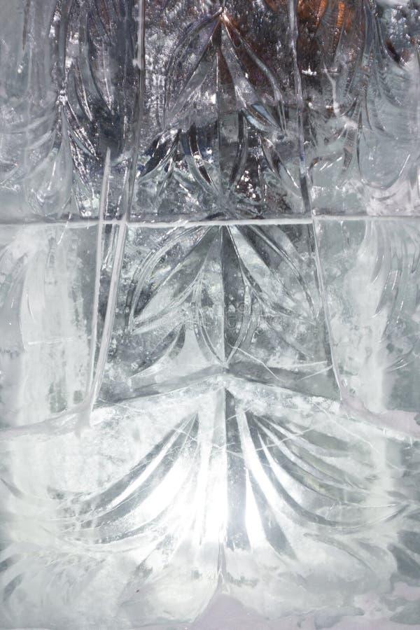Texturerad bakgrund för vinter för isbana för isblått fryst royaltyfri foto