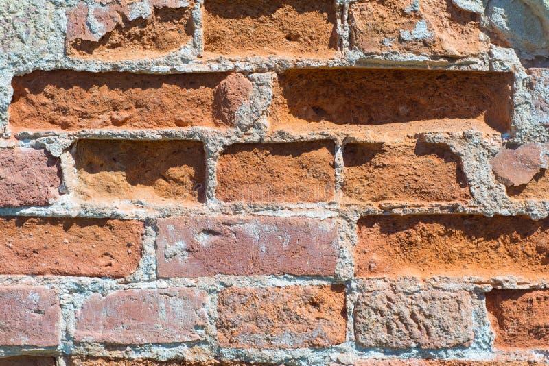 Texturerad bakgrund: gammal modell för tegelstenvägg royaltyfri fotografi