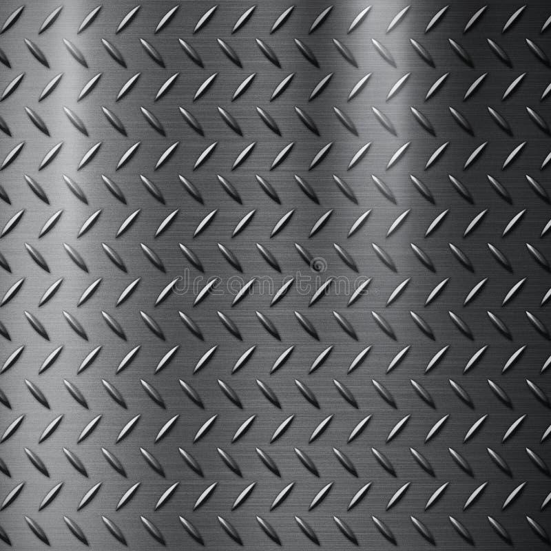 Texturerad diamantmetall royaltyfri illustrationer