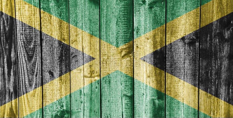 Texturerad flagga av Jamaica i trevliga färger royaltyfri fotografi