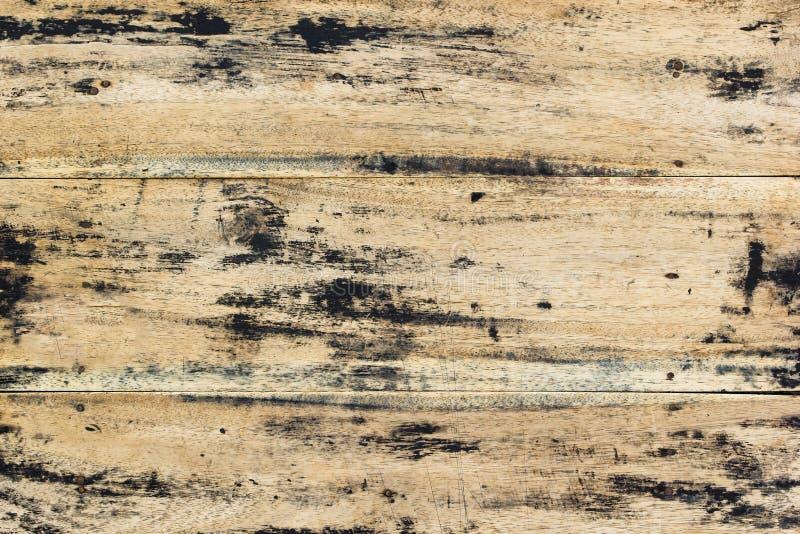 Texturerad gammal wood modell Grungeplankaöverkant av trätabellen i r royaltyfri fotografi