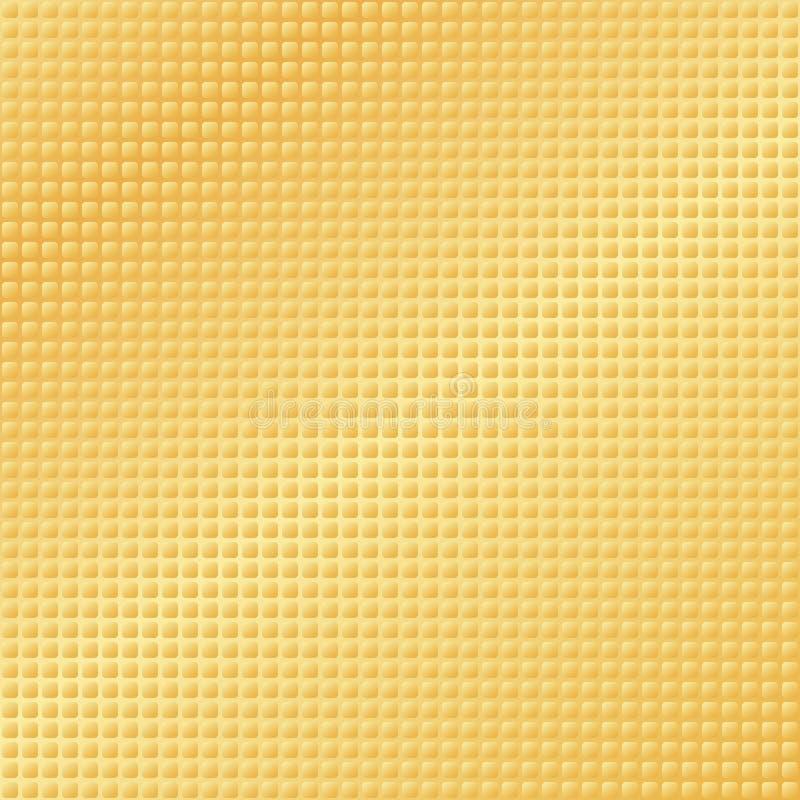 texturerad guld- modell stock illustrationer