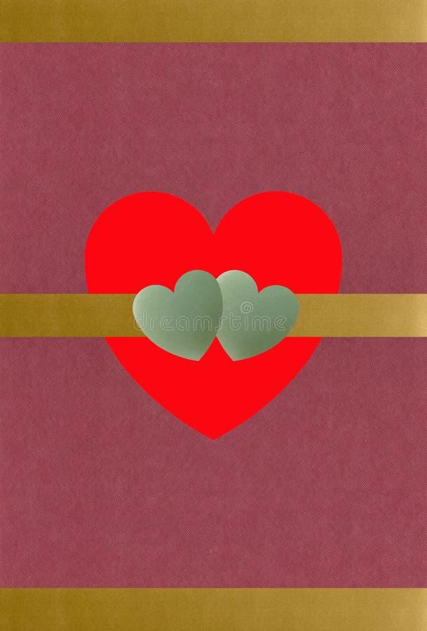 Download Texturerad guldhjärtajade stock illustrationer. Illustration av valentin - 501798