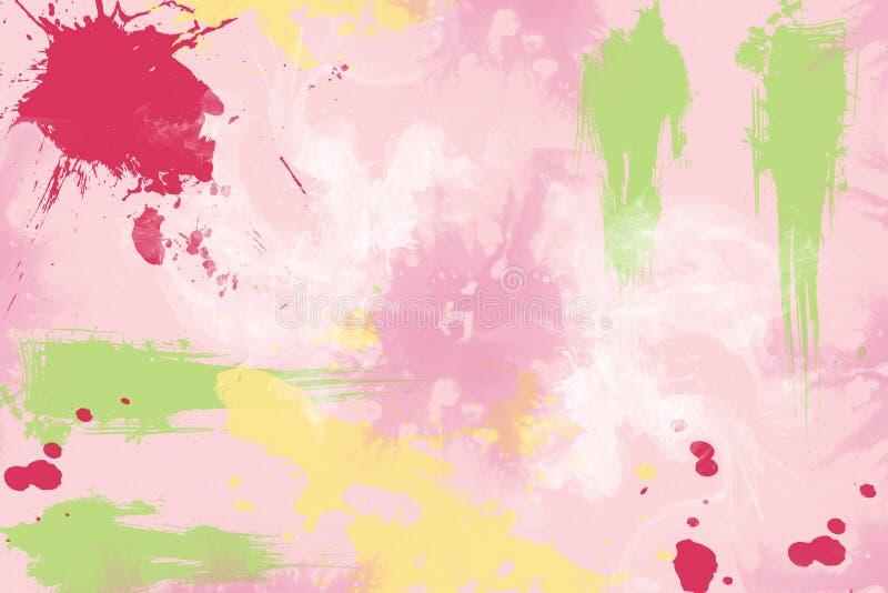 texturerad scrapbook för grafittimålarfärgpapper splattered royaltyfri illustrationer