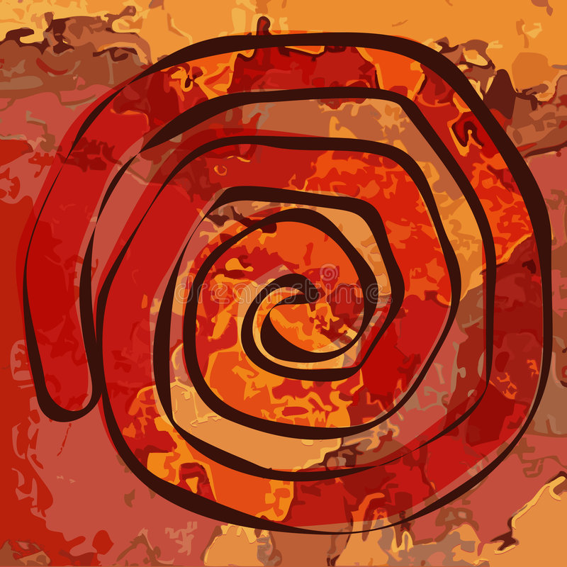 texturerad spiral royaltyfri illustrationer