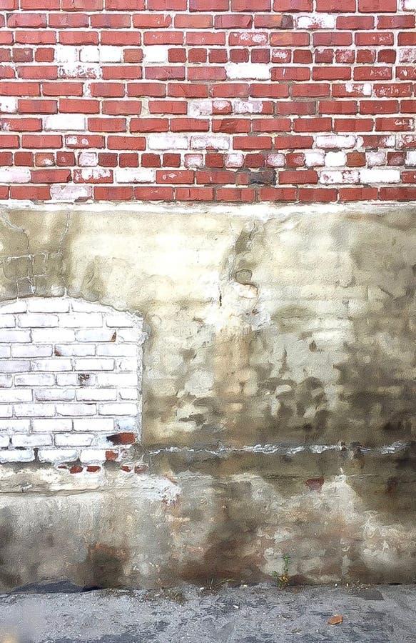 Texturerad tegelstenv?gg i Berkeleley, Kalifornien arkivfoton