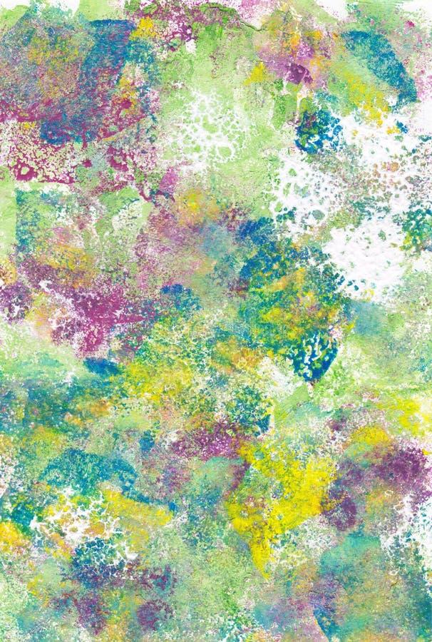 Texturerade abstrakta kludd av mångfärgad målarfärg stock illustrationer