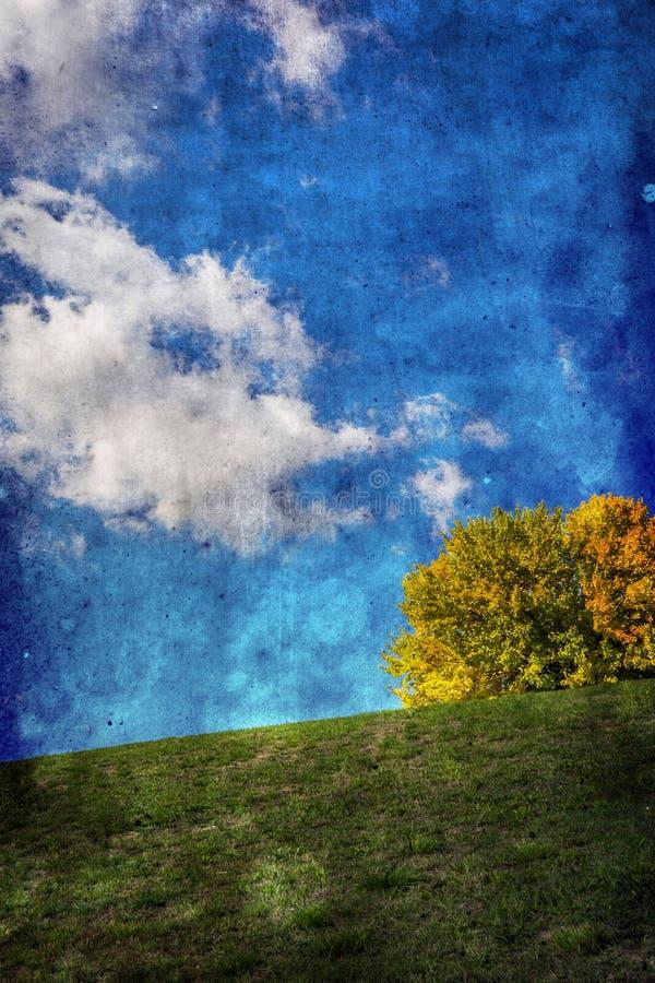 Texturerade Autumn Landscape