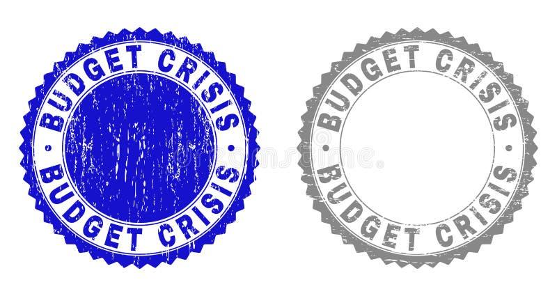 Texturerade den BUDGET- KRISEN för Grunge stämpelskyddsremsor royaltyfri illustrationer