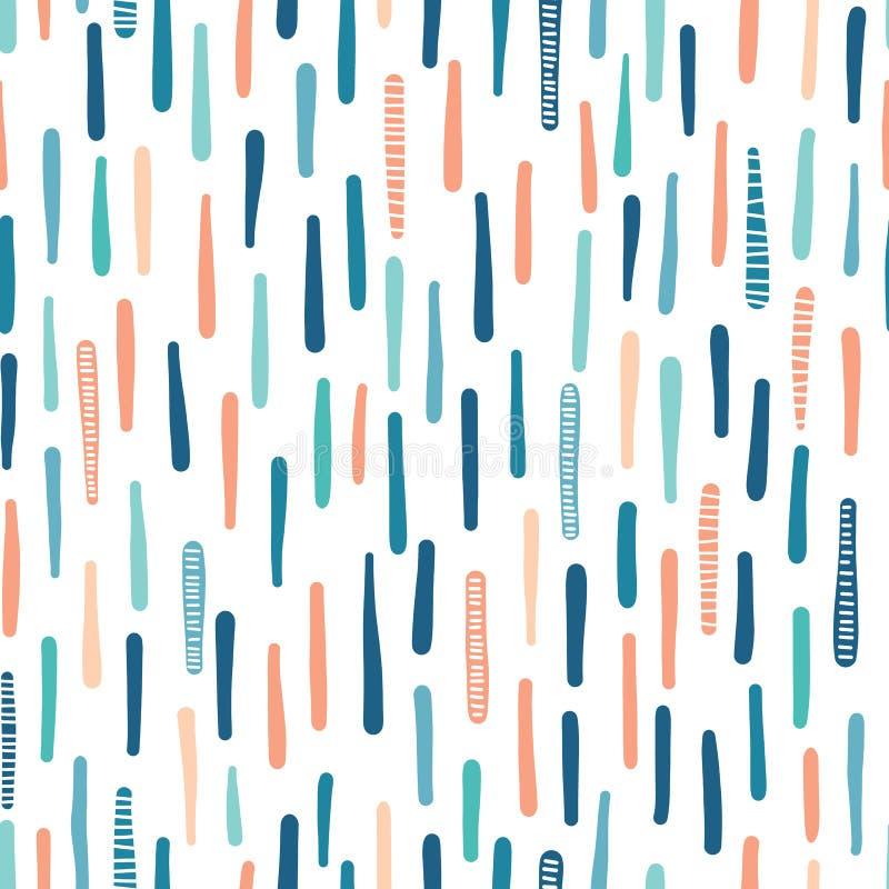 Texturerade den utdragna lodlinjen för handen maritima band seamless vektor f?r modell Kust- modetextil för randig sjösida _ stock illustrationer