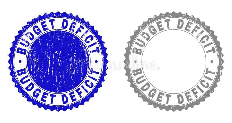 Texturerade stämpelskyddsremsor för Grunge BUDGETUNDERSKOTT vektor illustrationer