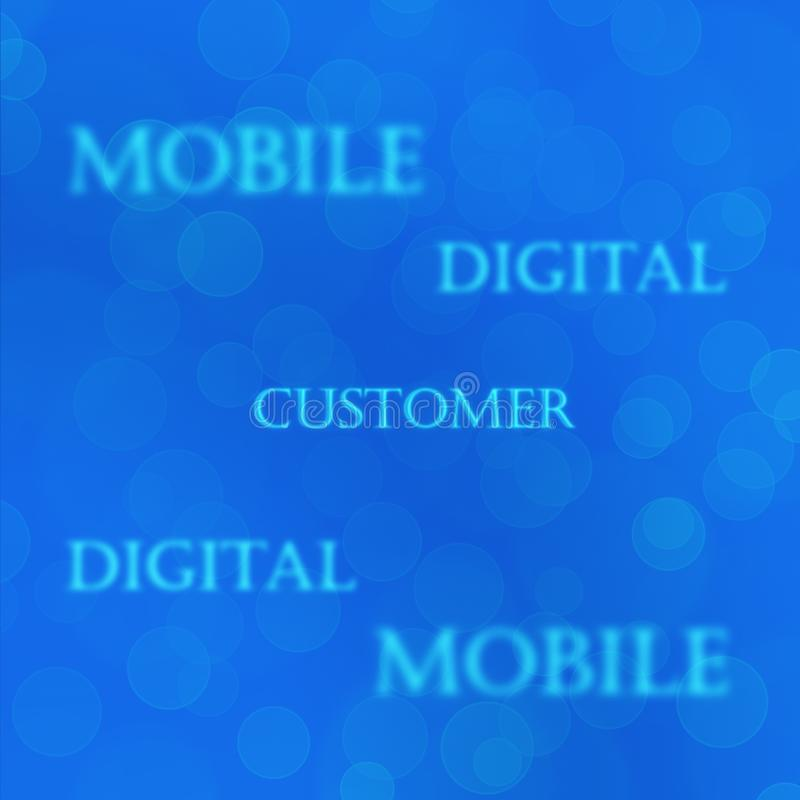 Texturerar blått för mobil affär för Telcotelekom kundbegrepp fotografering för bildbyråer