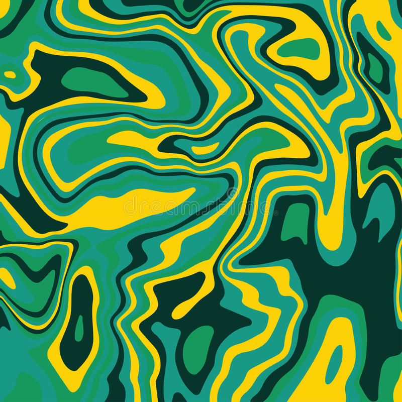 Texturerar grön målade vågor för marmorfärgpulvertextur akryl bakgrund royaltyfri illustrationer