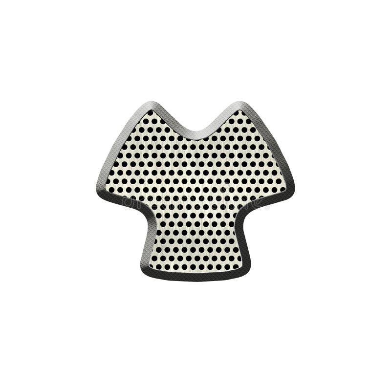 Texturerat emblem f?r metall prick stock illustrationer