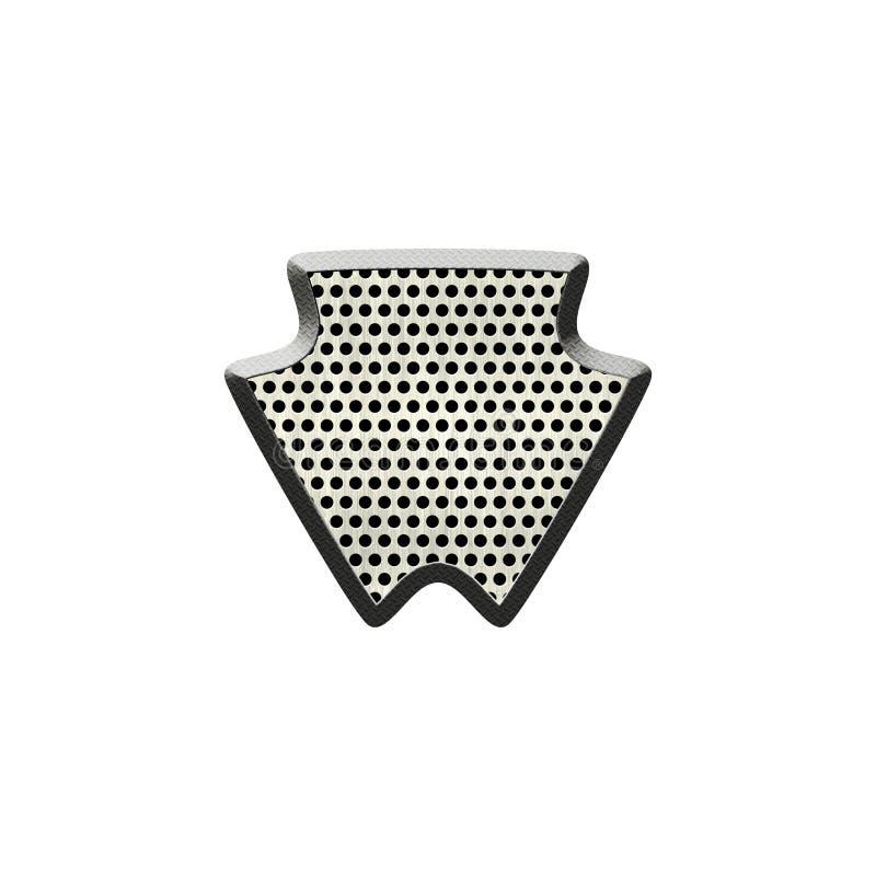 Texturerat emblem f?r metall prick royaltyfri illustrationer