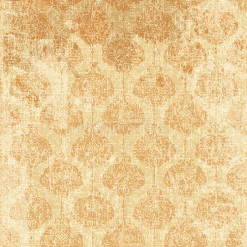 texturerat gammalt papper royaltyfri illustrationer