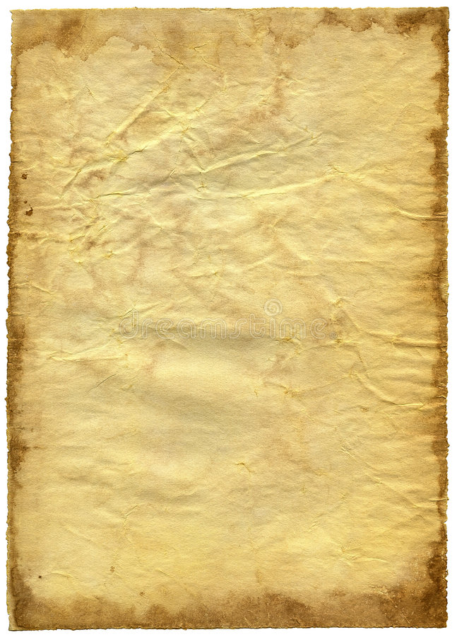 texturerat gammalt papper för skröplig kant royaltyfri bild