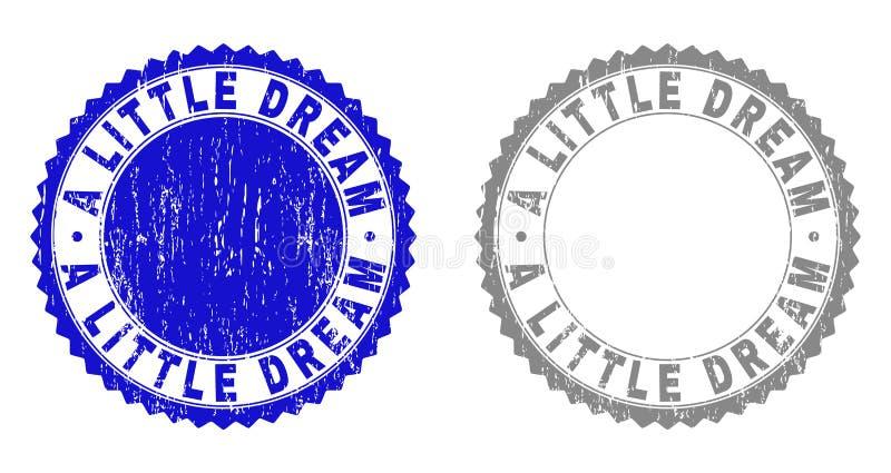 Texturerat LITE DRÖMMA skrapade stämplar med bandet stock illustrationer