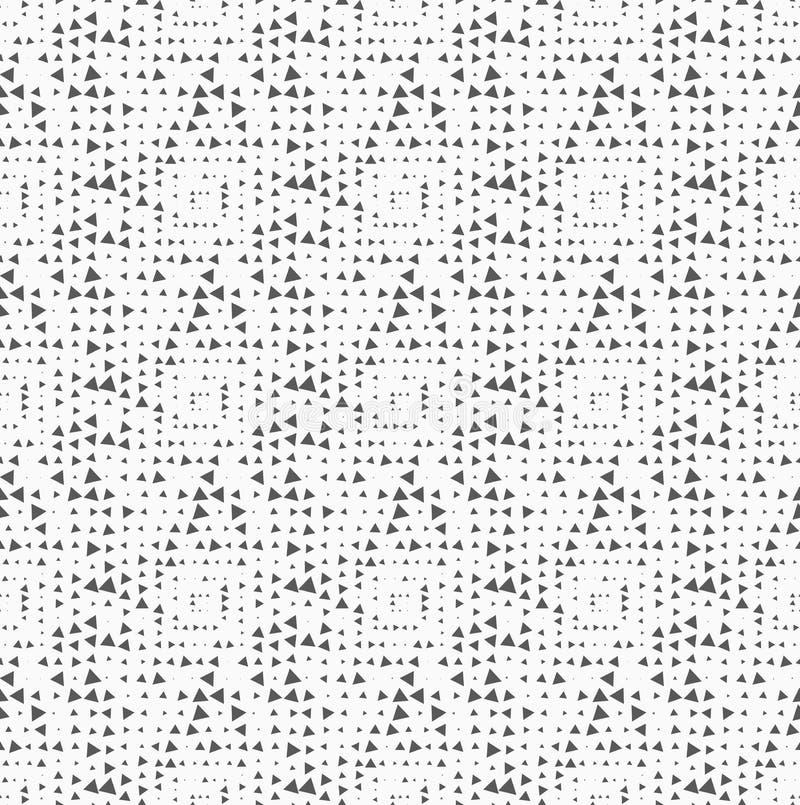 Texturerat med på måfå roterande triangelfyrkanter vektor illustrationer