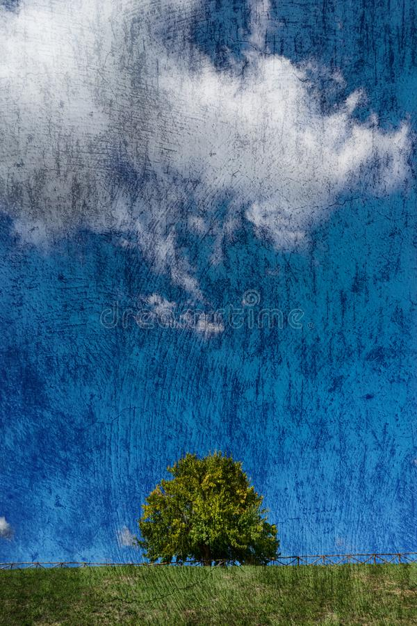 Texturerat naturlandskap