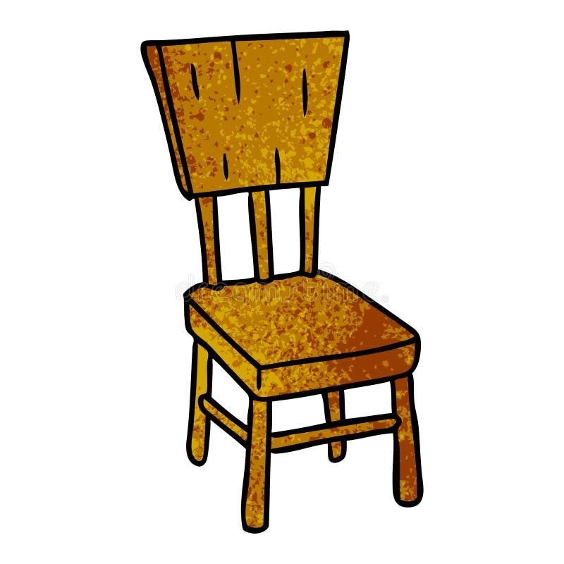 texturerat tecknad filmklotter av en tr?stol vektor illustrationer