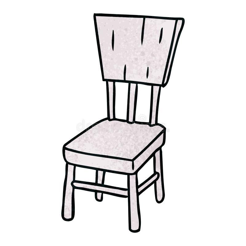 texturerat tecknad filmklotter av en tr?stol stock illustrationer