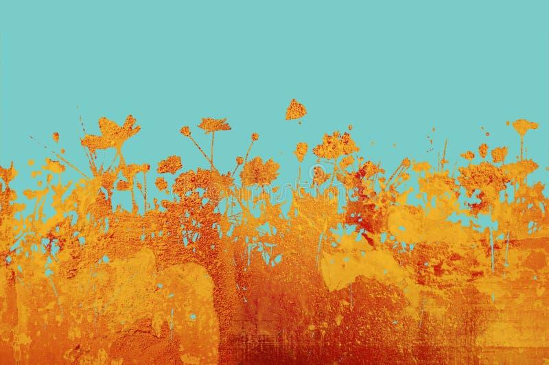 Textures abstraites de fleur et b illustration stock