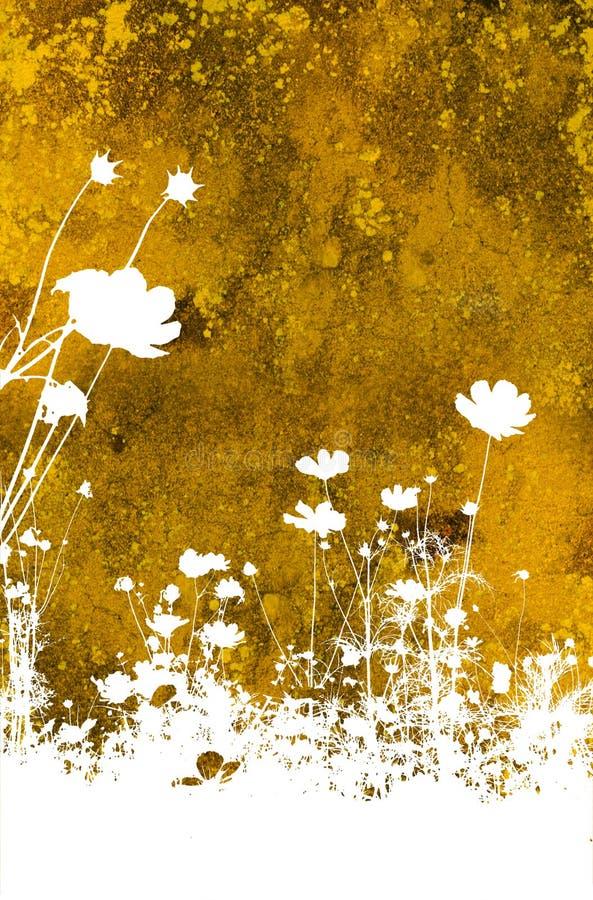 Textures abstraites de fleur et b illustration de vecteur