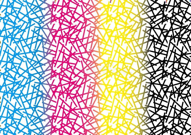 Textures abstraites de fond de modèle de CMYK illustration libre de droits