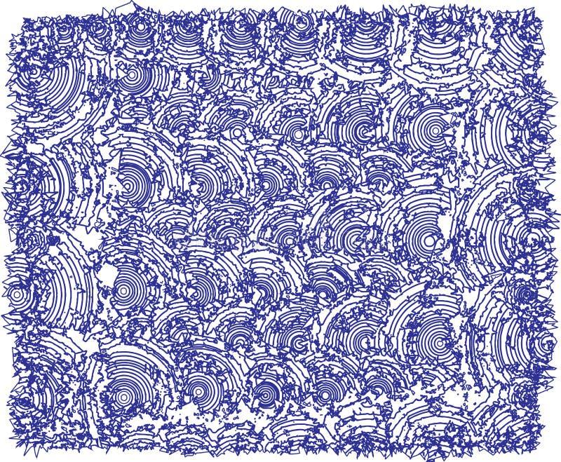 Textures bossues, couleurs bleu-foncé illustration de vecteur