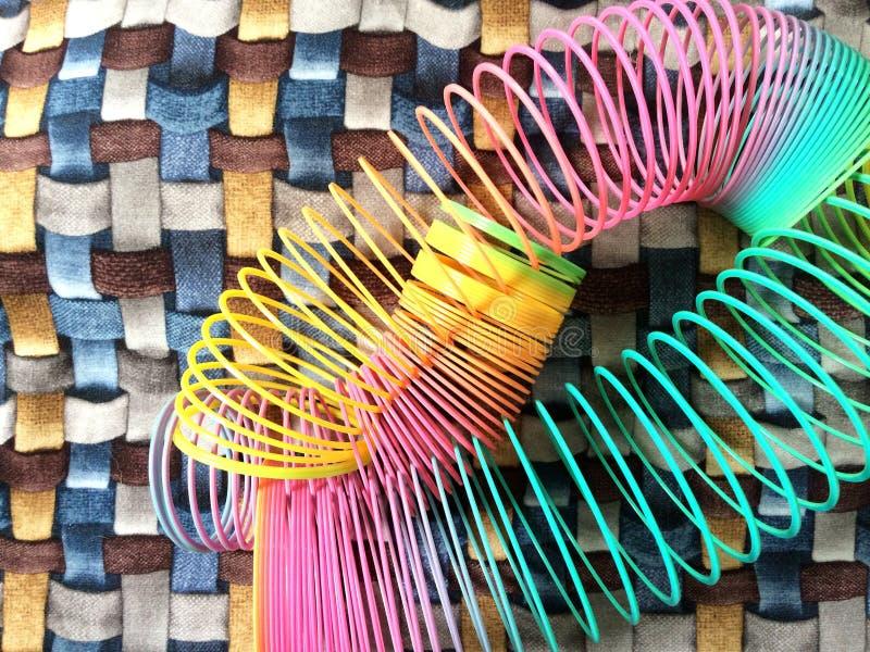 Textures colorées avec les éléments quotidiens image stock