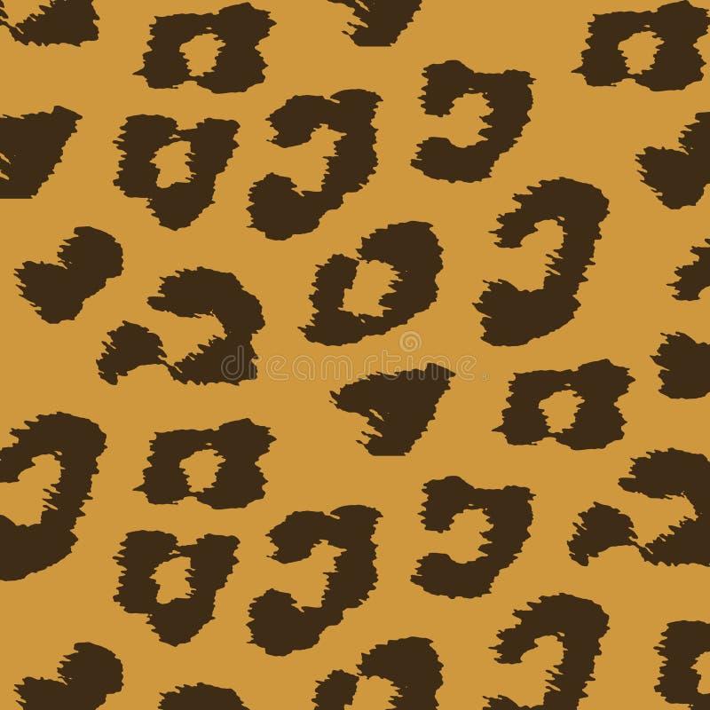 Textures colorées de peau animale de léopard. illustration stock