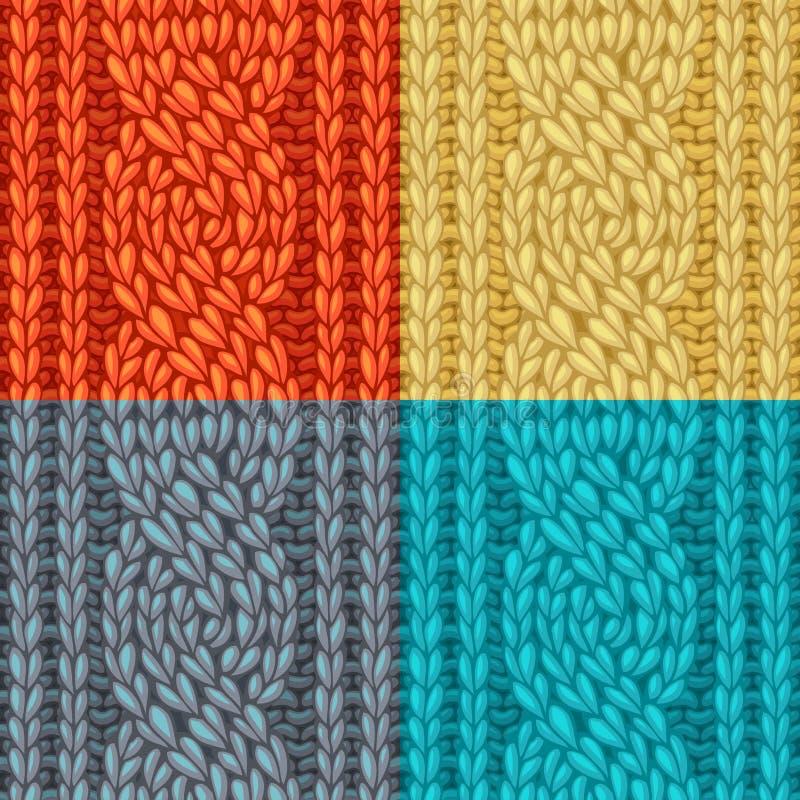 Textures colorées de point de câble de Six-point illustration libre de droits