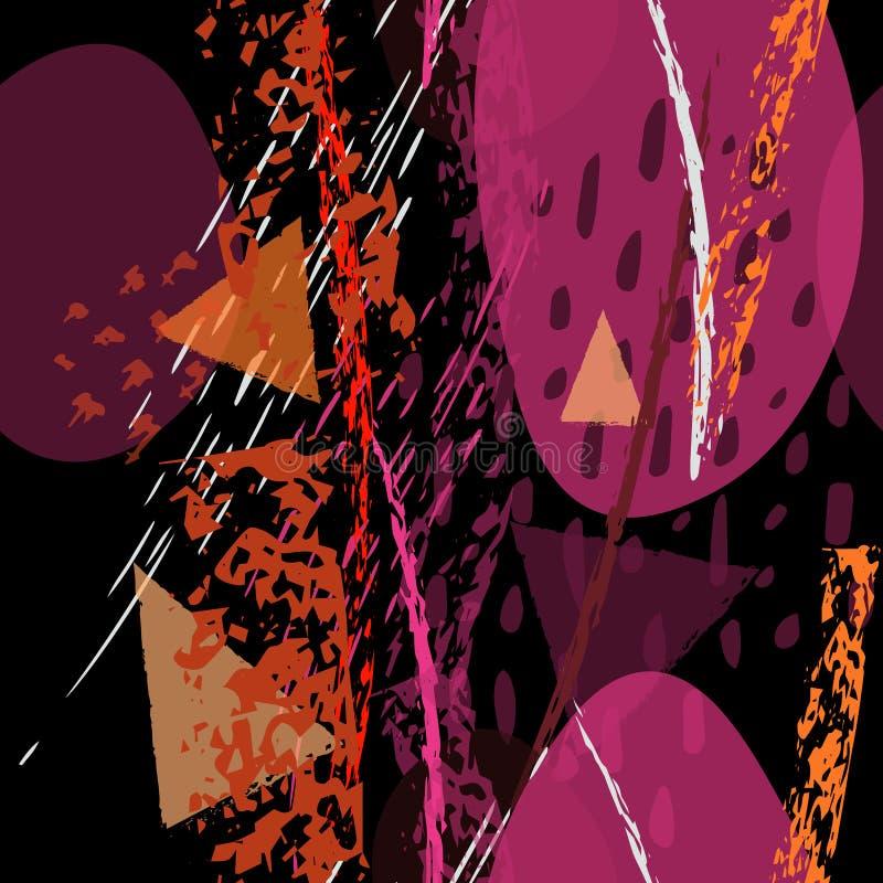 Textures contemporaines de collage Moderne artistique illustration stock