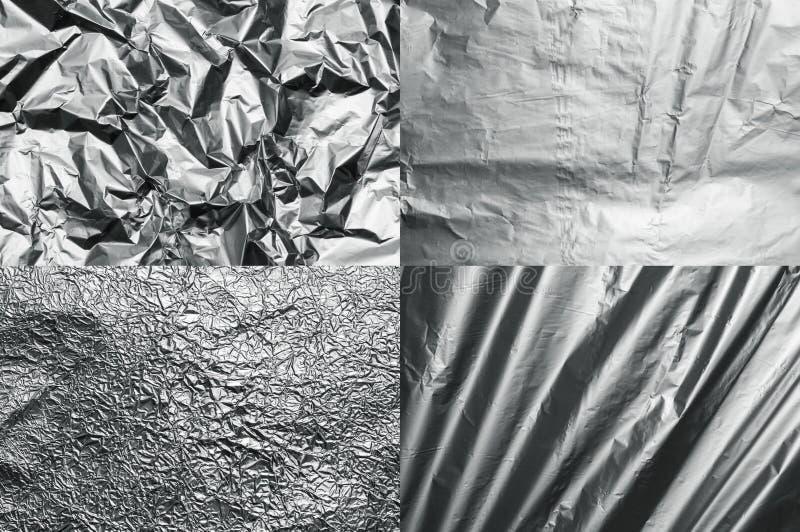 Textures d'aluminium photo libre de droits