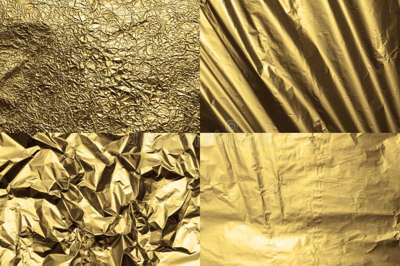 Textures d'aluminium photographie stock