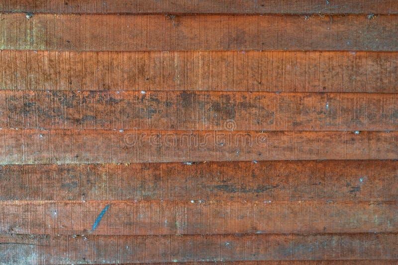 Textures de fond ou vieux papiers peints en bois étendus dans l'horizontal et orange-clair dans le rétro style image libre de droits
