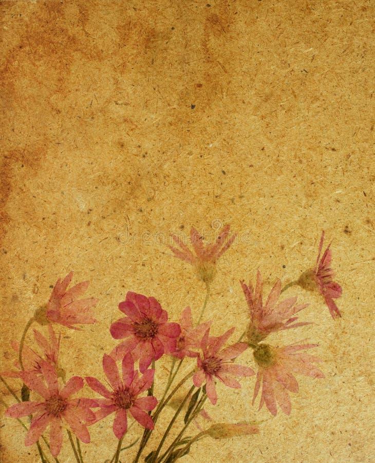 Textures de papier de fleur. illustration de vecteur