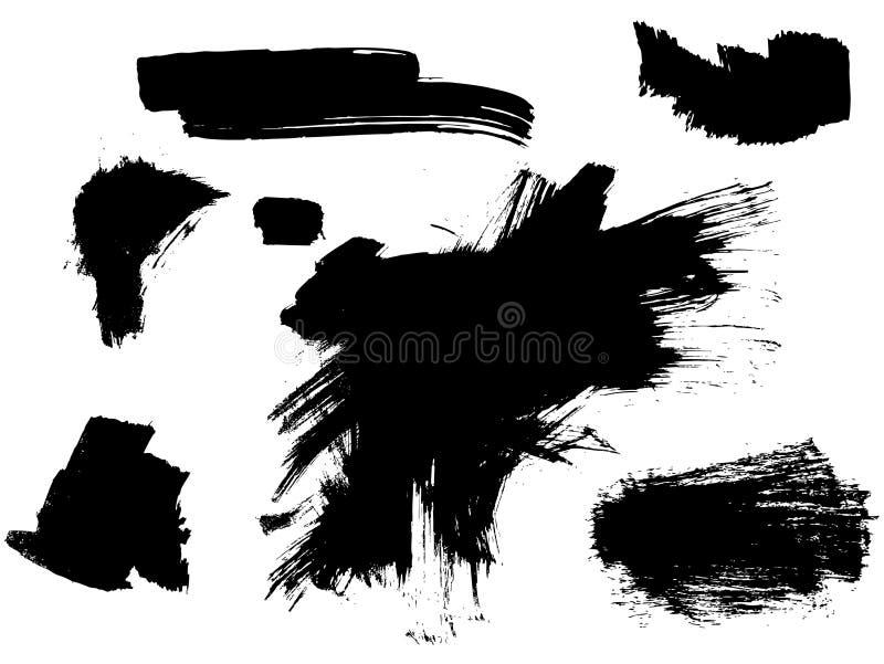 Textures de peinture de vecteur illustration de vecteur