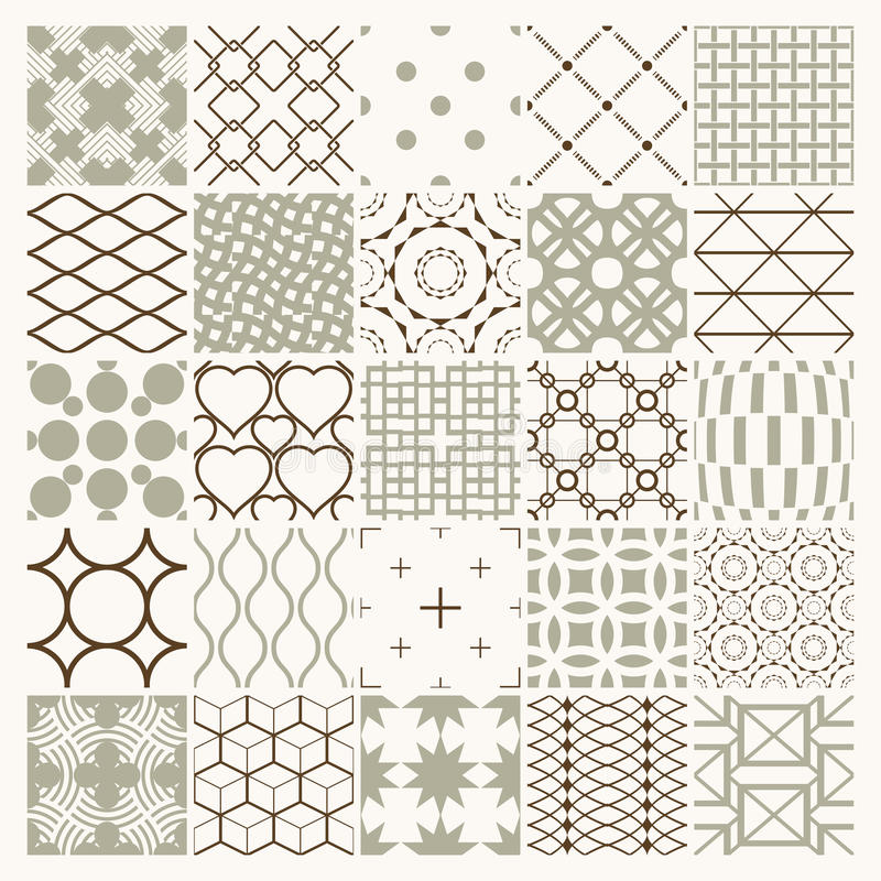 Textures de vintage de graphique de vecteur créées avec des places, losanges illustration stock