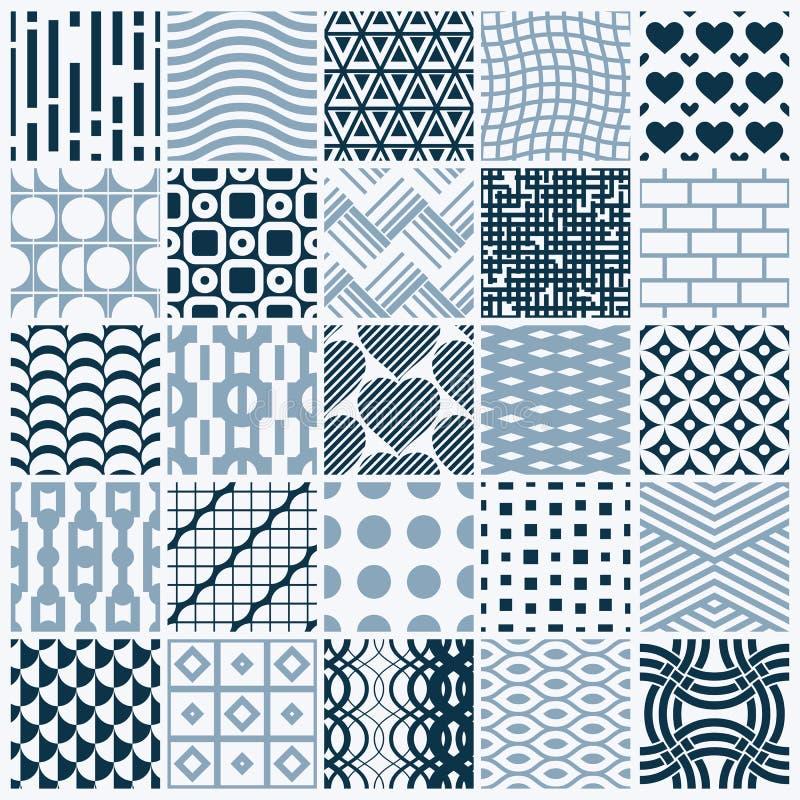 Textures de vintage de graphique de vecteur créées avec des places, losanges illustration libre de droits