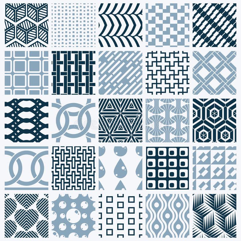 Textures de vintage de graphique de vecteur créées avec des places, losanges illustration de vecteur