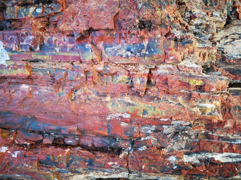 Textures en pierre rouges - roche colorée texturisée photos stock